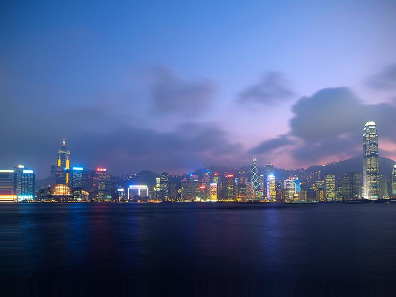 香港維多利亞夜景