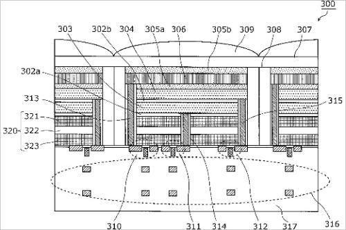 松下三层影像传感器技术专利