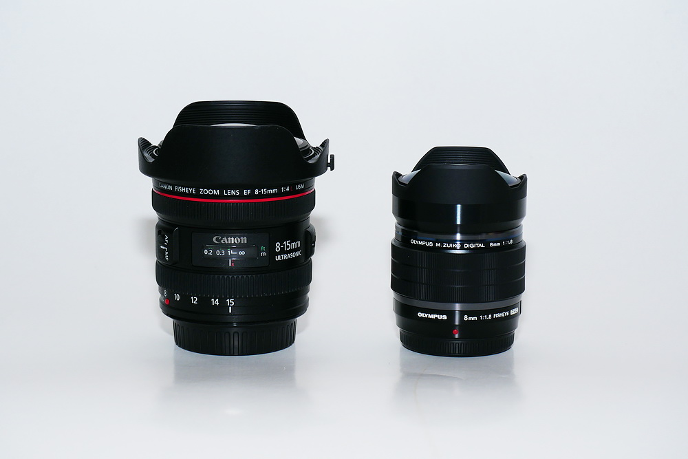 M.ZD 8mm F1.8 Fisheye vs EF 8-15mm F4 Fisheye