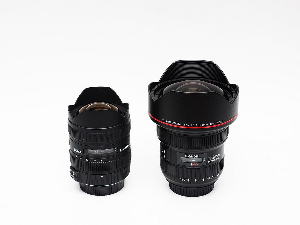 Canon EF 11-24mm F4L versus SIGMA 8-16mm F4.5-5.6 DC HSM