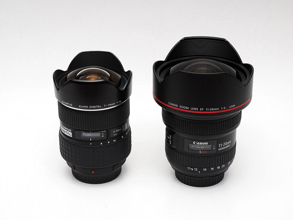 Canon EF 11-24mm F4L versus TAMRON SP 15-30mm F2.8 OLYMPUS ZD 7-14mm F4 SHG