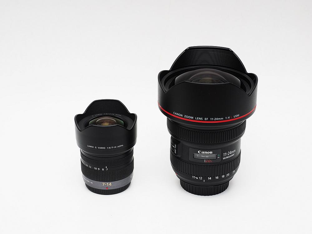 Canon EF 11-24mm F4L versus Panasonic LUMIX-G 7-14mm F4