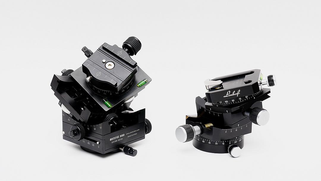 Photo Clam Multiflex Geared Head versus Linhof 3D Micro