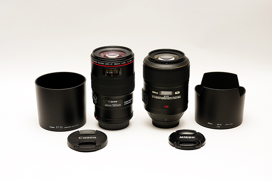 EF 100mm F2.8L MACRO IS USM versus AF-S VR Micro-Nikkor 105mm F2.8G IF ED