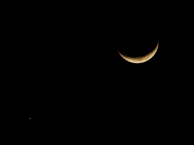 2017 01 02 夜空 月球與金星