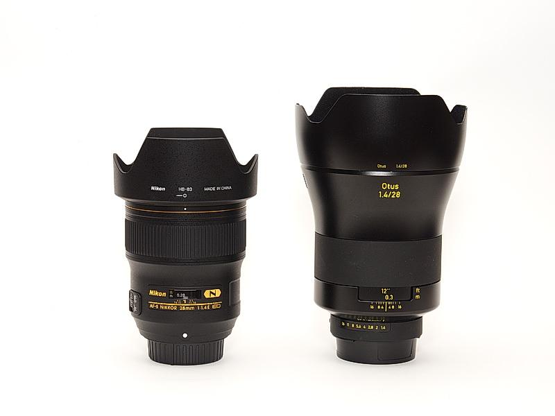 Nikon AF-S NIKKOR 28mm F1.4E v.s Otus 1.4/28