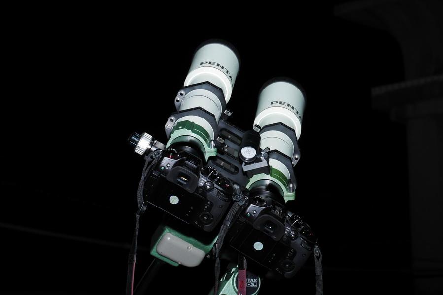 PENTAX 75攝影用並列雙筒上架測試