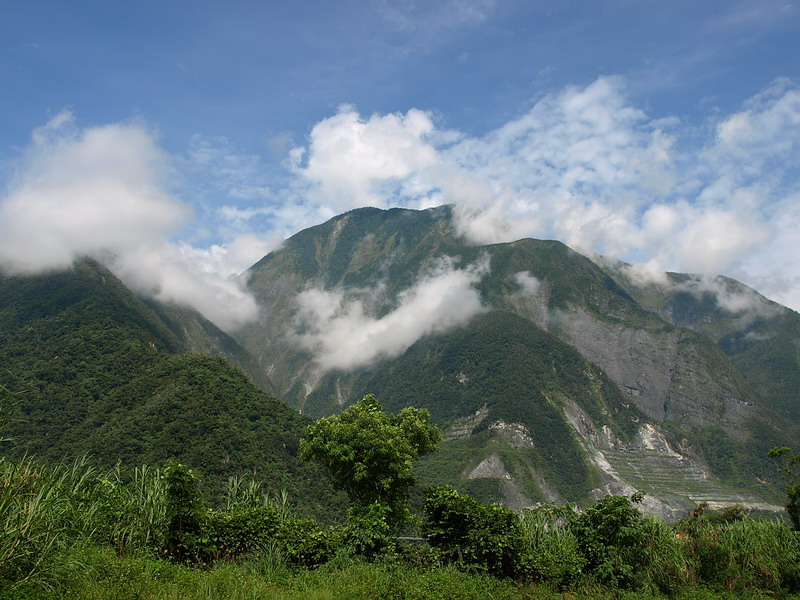 2007年6月18日,蘇花公路上,和平附近的山景